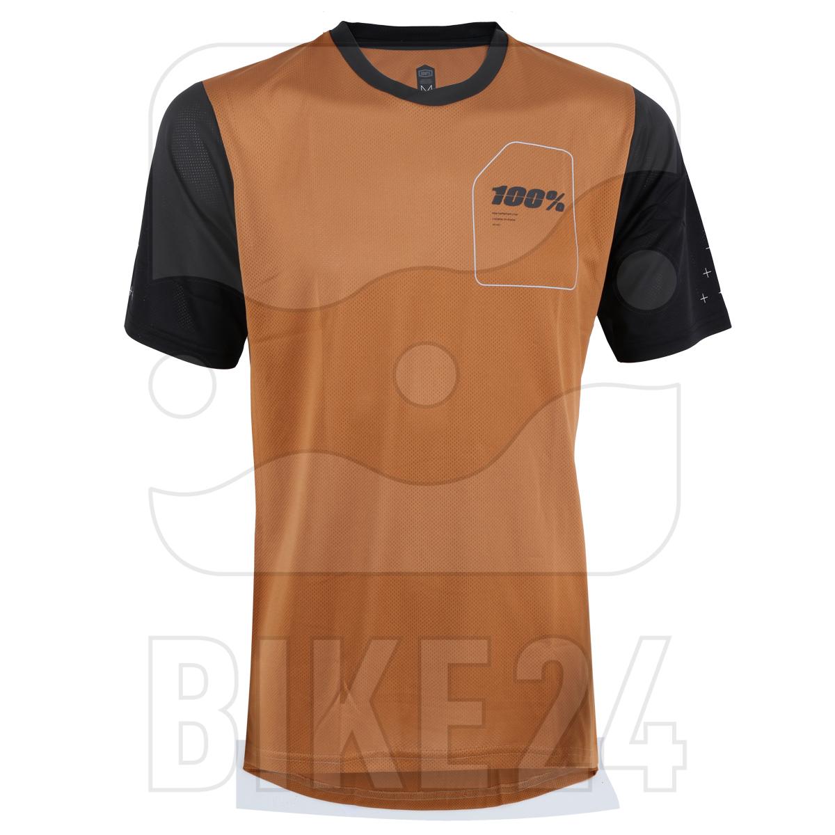 100% Ridecamp Jersey - Terracotta / Black