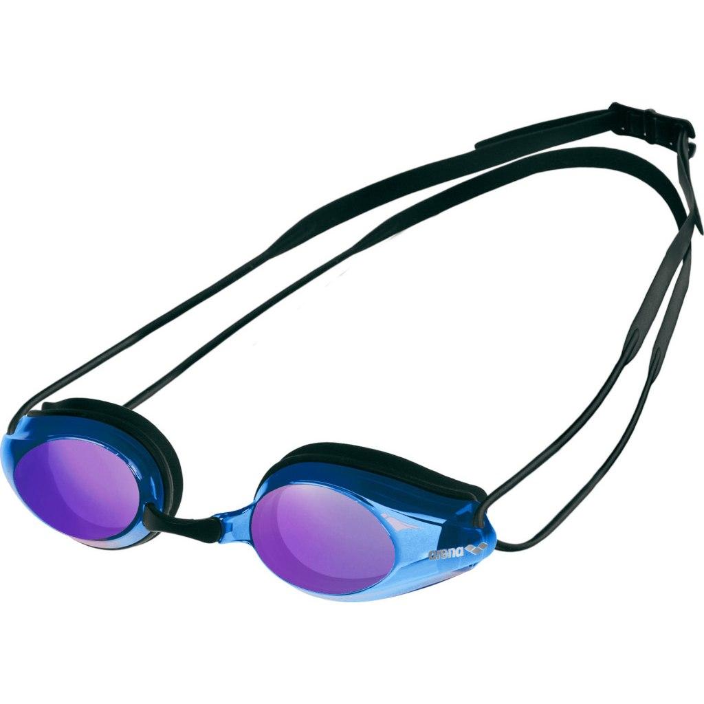 arena Tracks Mirror Black/Blue Multi/Black Swimming Goggles