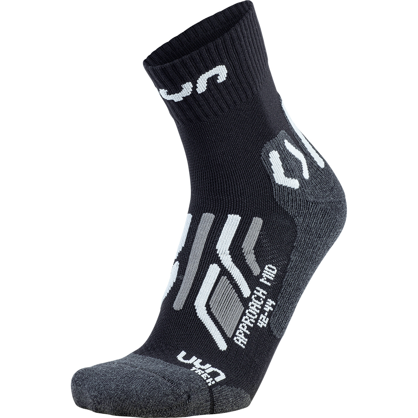Image of UYN Man Trekking Approach Mid Cut Socks - Black/Grey