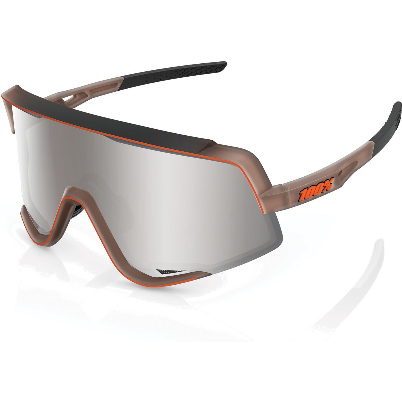 100% Glendale - Hiper Multilayer Mirror Lens Gafas - Matte Translucent Brown Fade