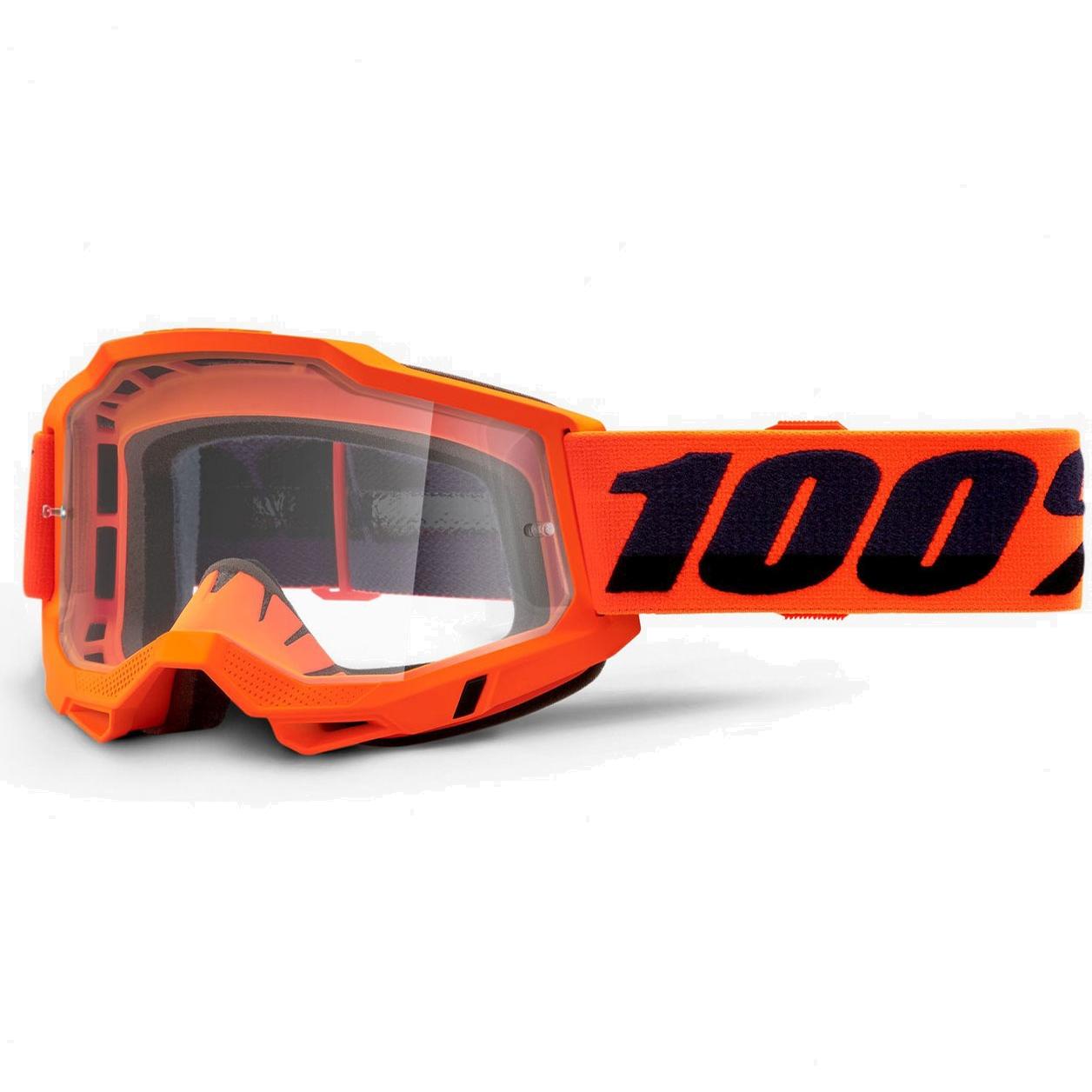 100% Accuri 2 OTG Gafas - Neon Orange - Clear