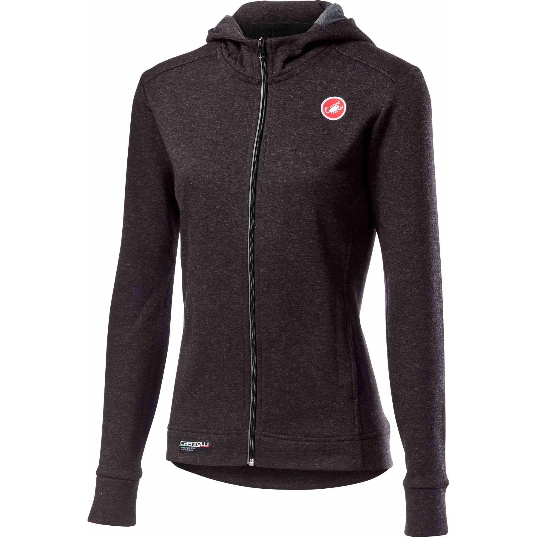 Castelli Milano Full Zip W Fleece Women's Jacket - melange light black