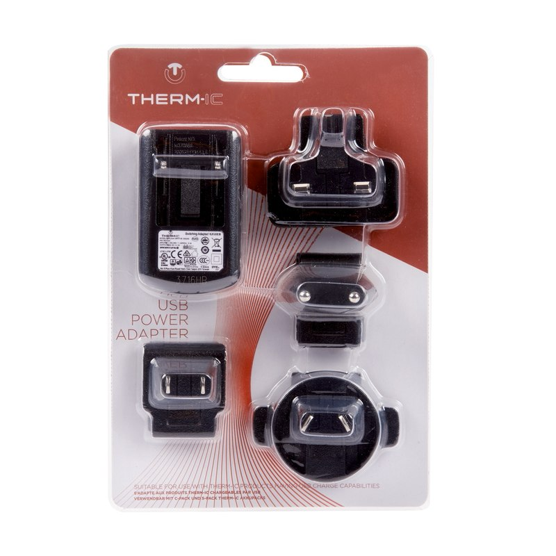 therm-ic USB Power Adapter inkl. Ladegerät und Steckdose