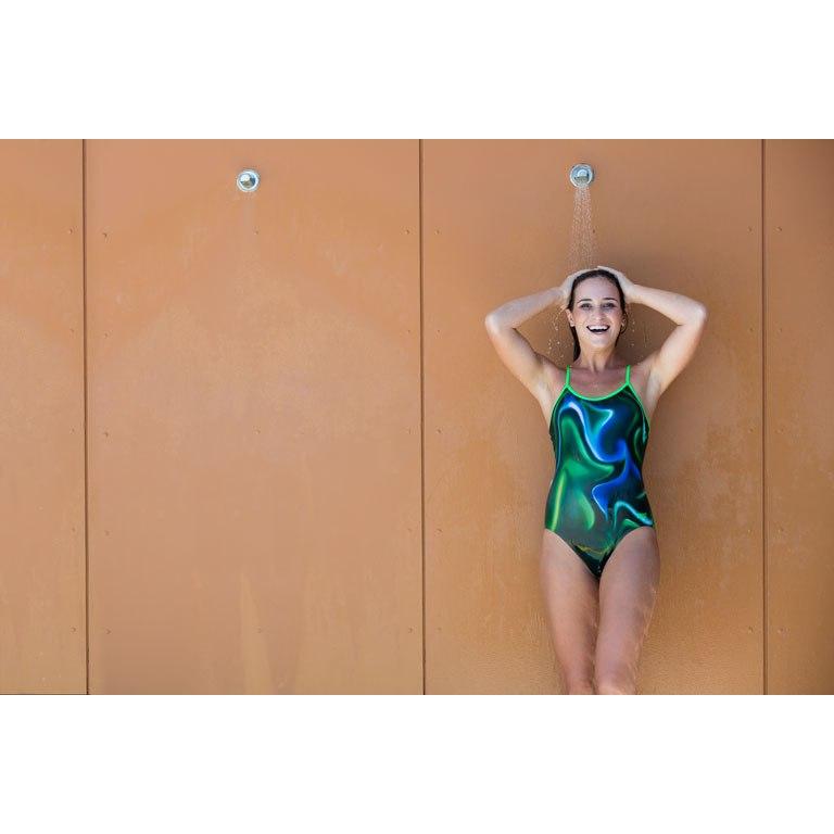 Bild von Zoggs Jungle Xcel Back Swimsuit Badeanzug - green multi