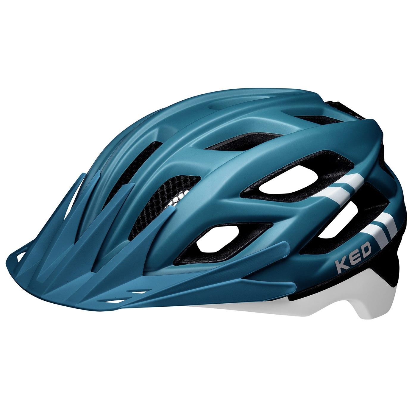 KED Companion Helm - blue white matt