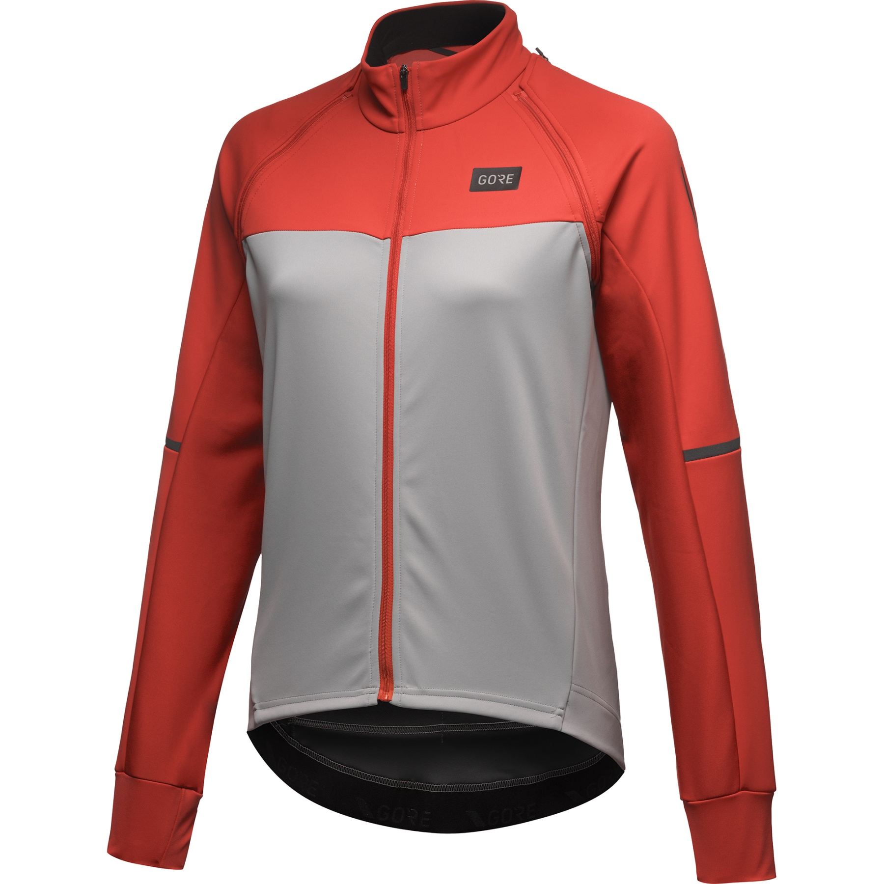 Image of GORE Wear Phantom Jacket for Women - lab grey/fireball BFAY