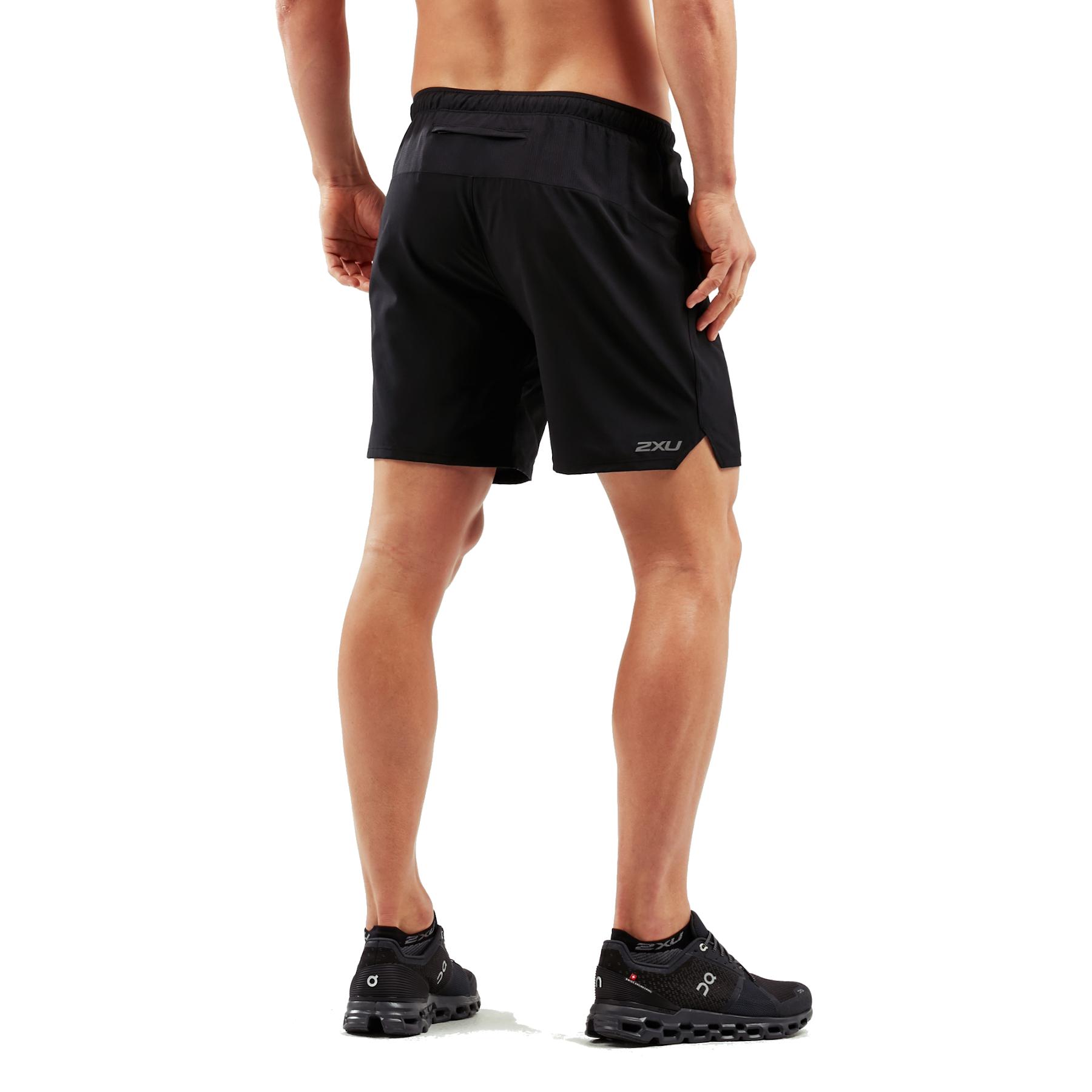 "Imagen de 2XU XVENT 7"" Free Shorts with Brief - black/silver reflective"