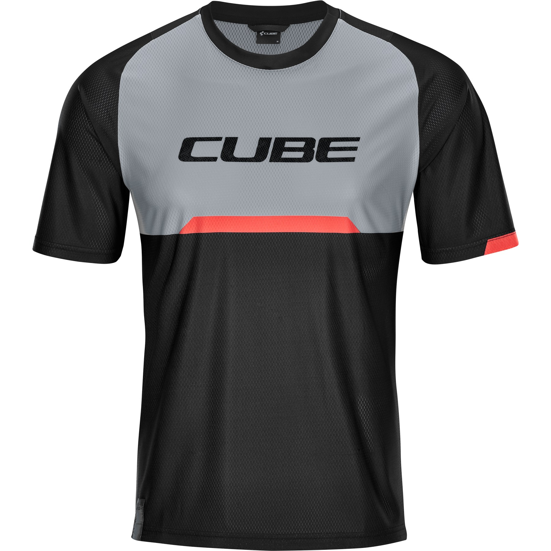 Picture of CUBE EDGE Round-Neck Shortsleeve Jersey - black'n'grey