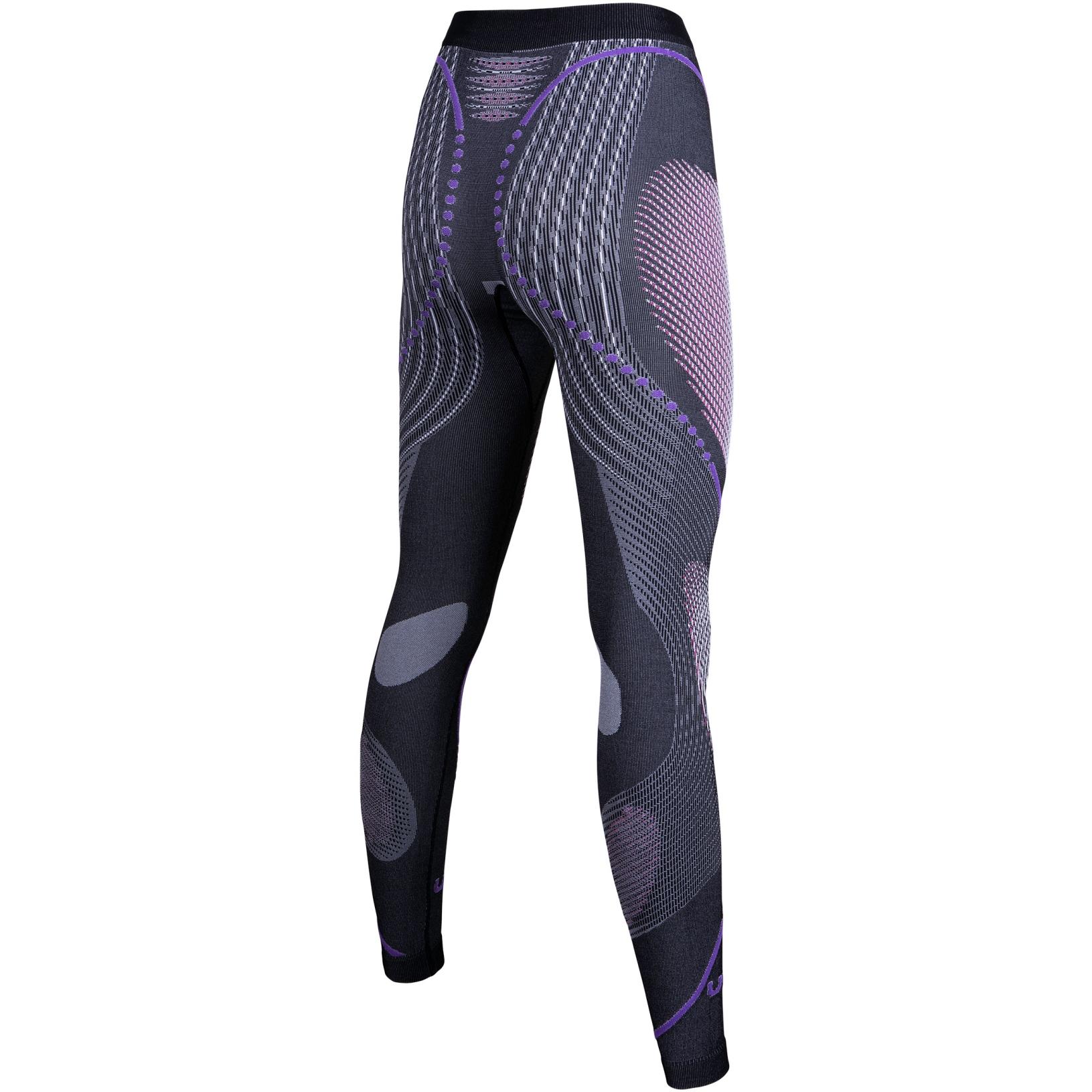 Image of UYN Evolutyon Melange Underwear Pants Long Women - Anthracite Melange/Raspberry/Purple