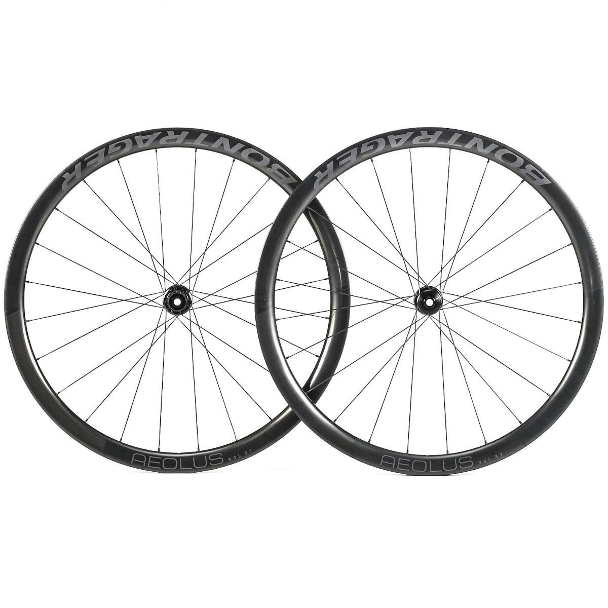 Image of Bontrager Aeolus RSL 37 TLR Road Wheel Set - Clincher - Centerlock - FW: 12x100 mm   RW: 12x135/142mm
