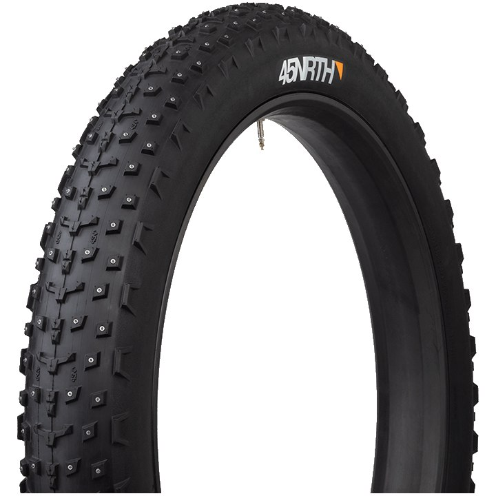 45NRTH Dillinger 4 Fatbike Folding Tire with 252 Studs - Tubeless Ready - 27.5x4.0 Inches - 60TPI