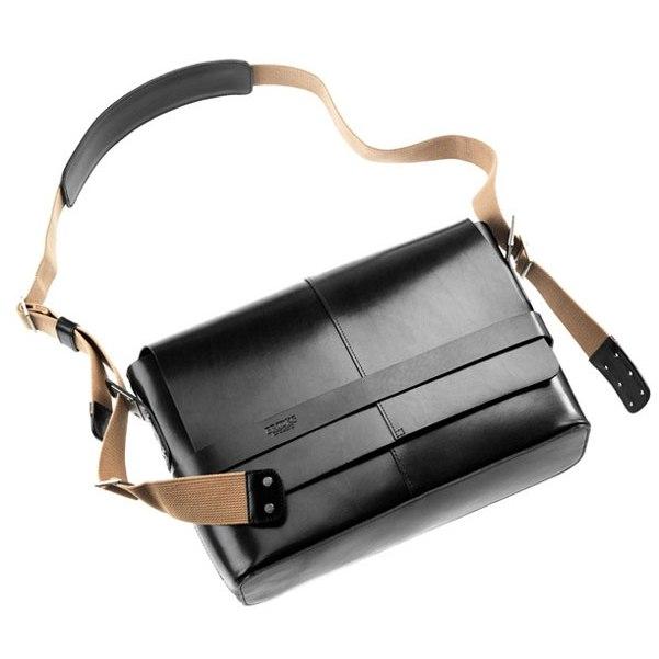 Brooks Barbican Hard Leather Shoulder Bag - black
