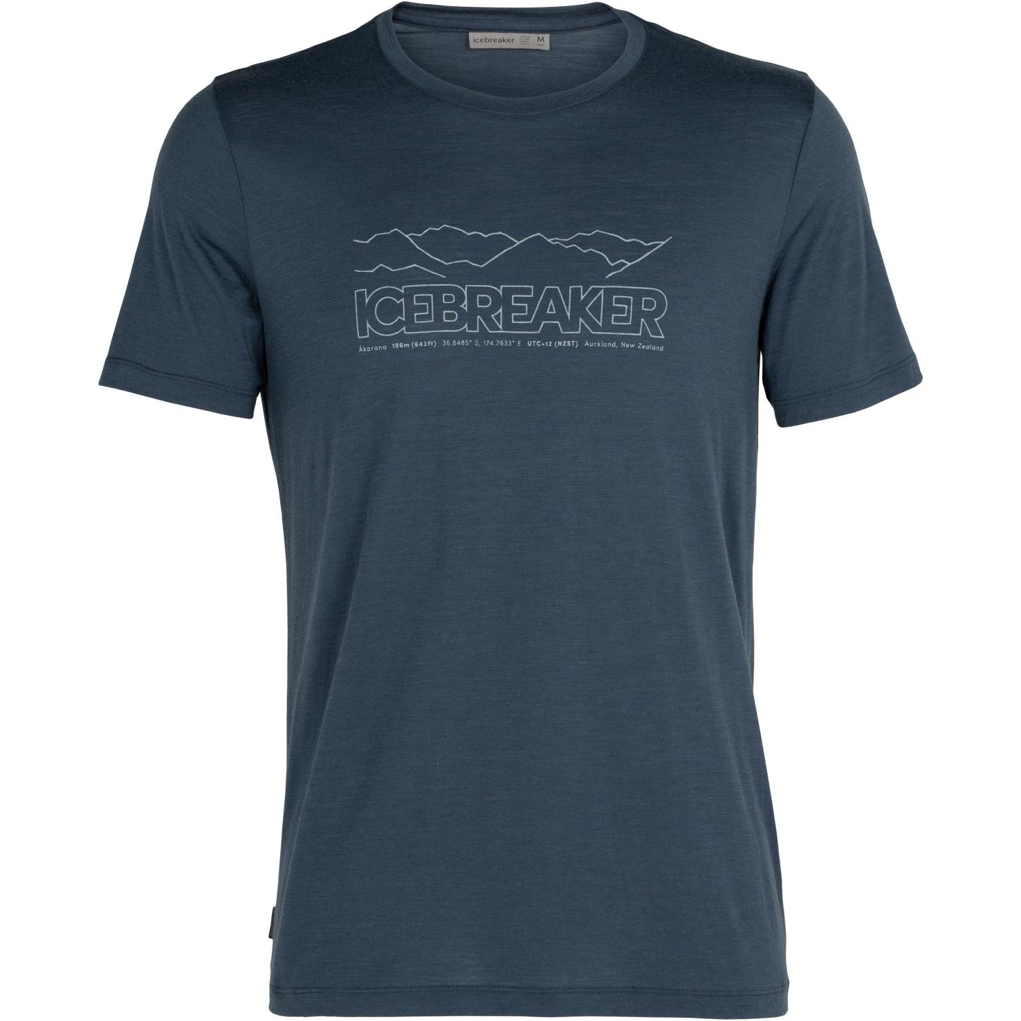 Icebreaker Tech Lite Crewe Icebreaker Story Herren T-Shirt - Serene Blue