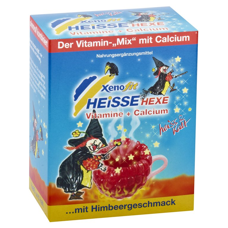 Xenofit Heisse Hexe - 5 Vitamine + Calcium Getränke-Granulat - 10x9g