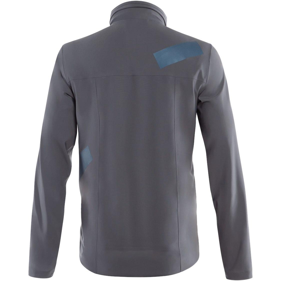Image of Dainese AWA Black 3L Rain Jacket - ombre blue