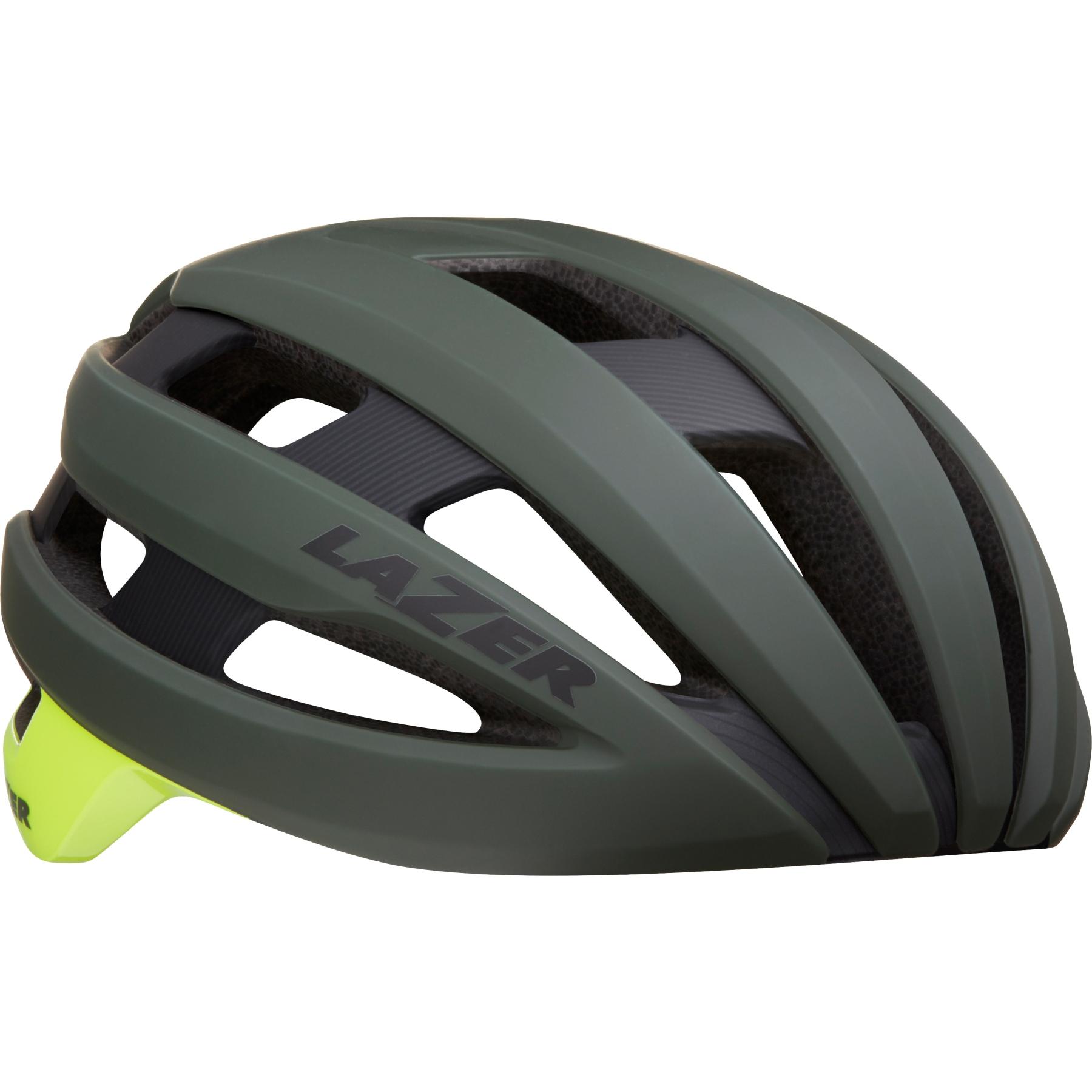 Lazer Sphere MIPS Helm - matte dark green flash yellow