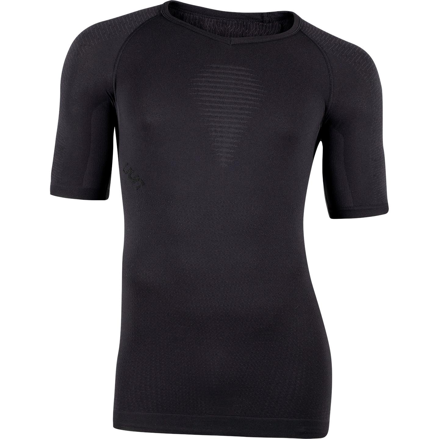 UYN Man Visyon Light 2.0 Underwear Shirt Short Sleeve V-Neck - Blackboard