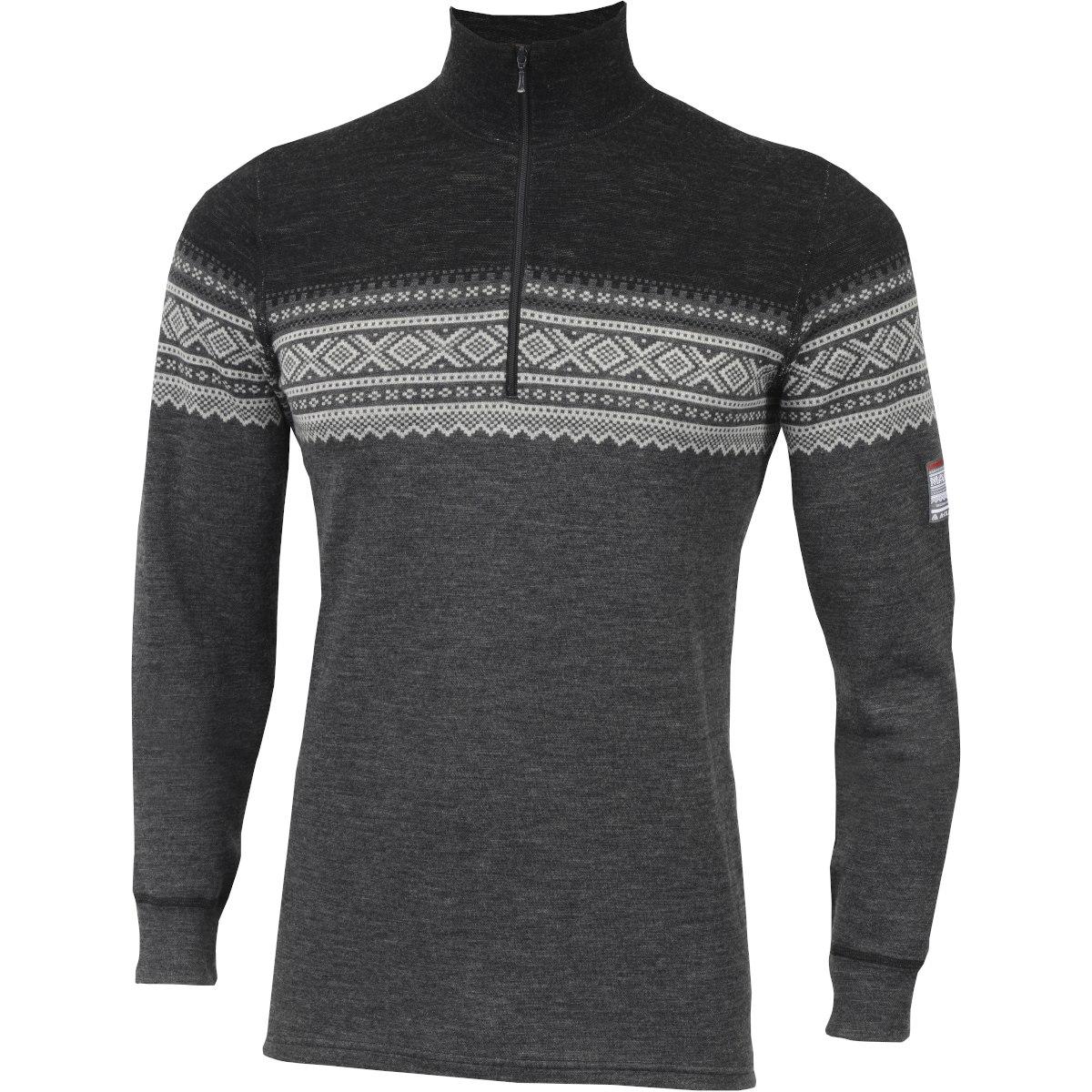 Aclima Designwool Marius Mock Neck Longsleeve Shirt with Zip - norefjell
