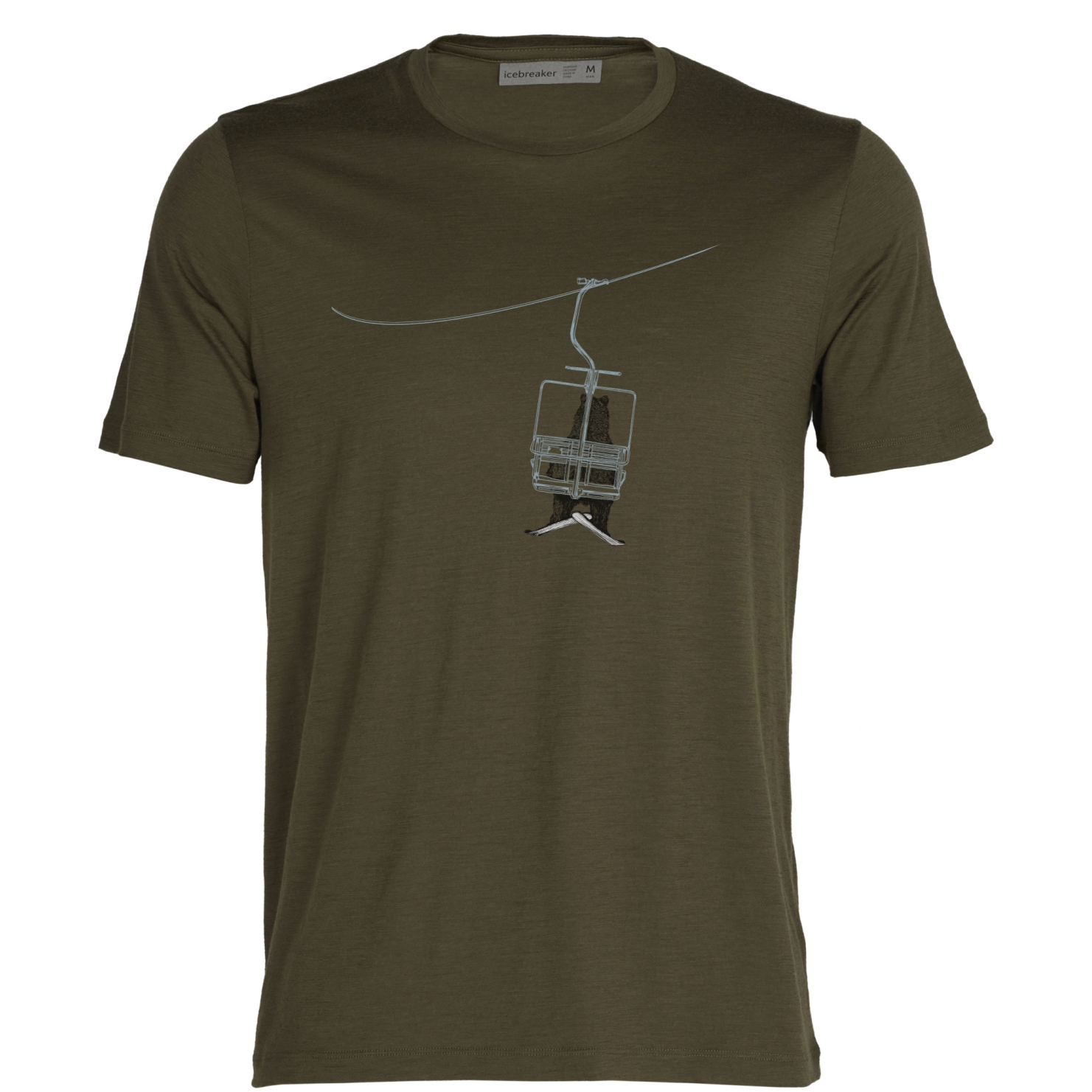 Icebreaker Tech Lite II Bear Lift Herren T-Shirt - Loden