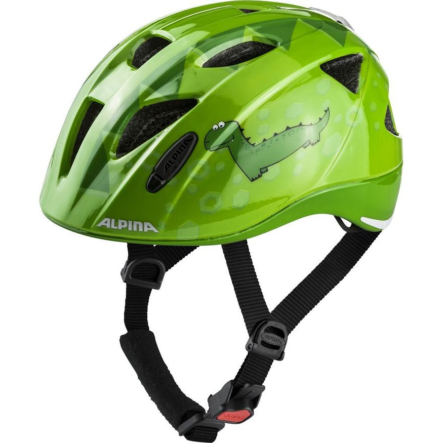 Alpina Ximo Flash Kids Helmet - green dino