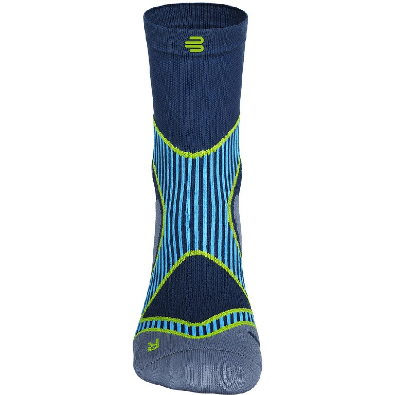 Image of Bauerfeind Run Performance Mid Cut Socks - blue