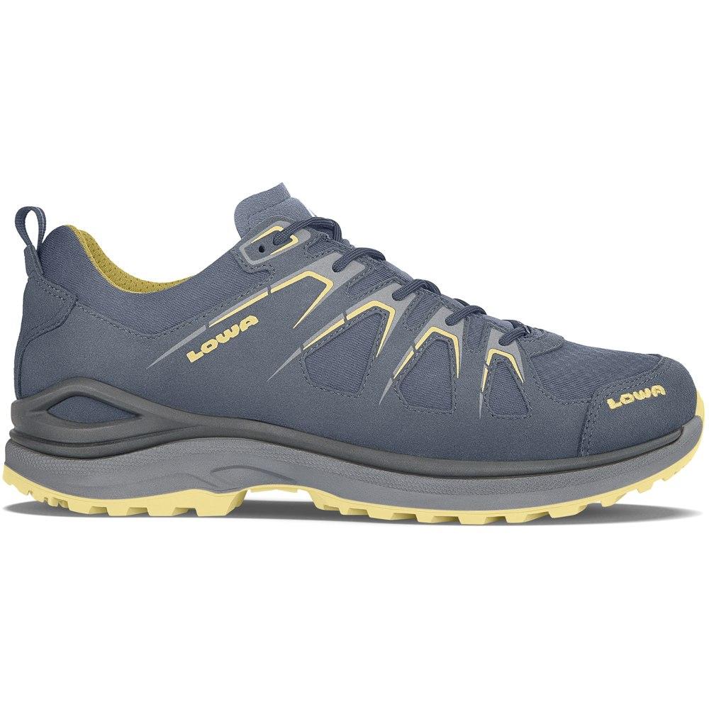 LOWA Innox Evo GTX Lo Shoe - steel blue/mustard