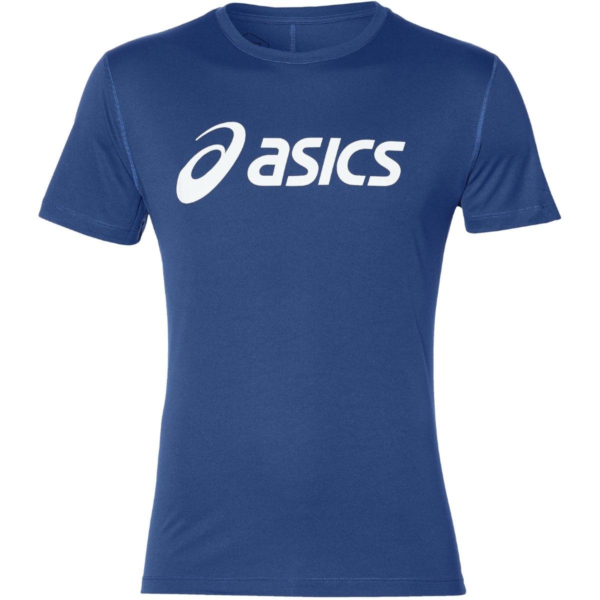 asics Silver Graphic Short Sleeve Top - asics blue/brilliant white
