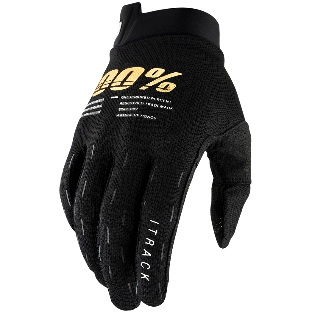 100% iTrack Youth Guantes - negro