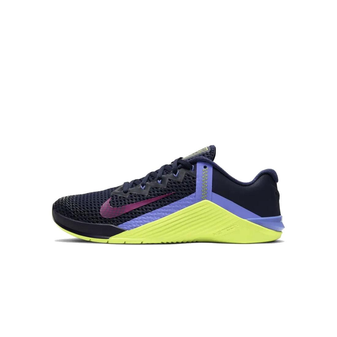 Produktbild von Nike Metcon 6 Damen Trainingsschuhe - blackened blue/red plum-cyber-sapphire AT3160-400