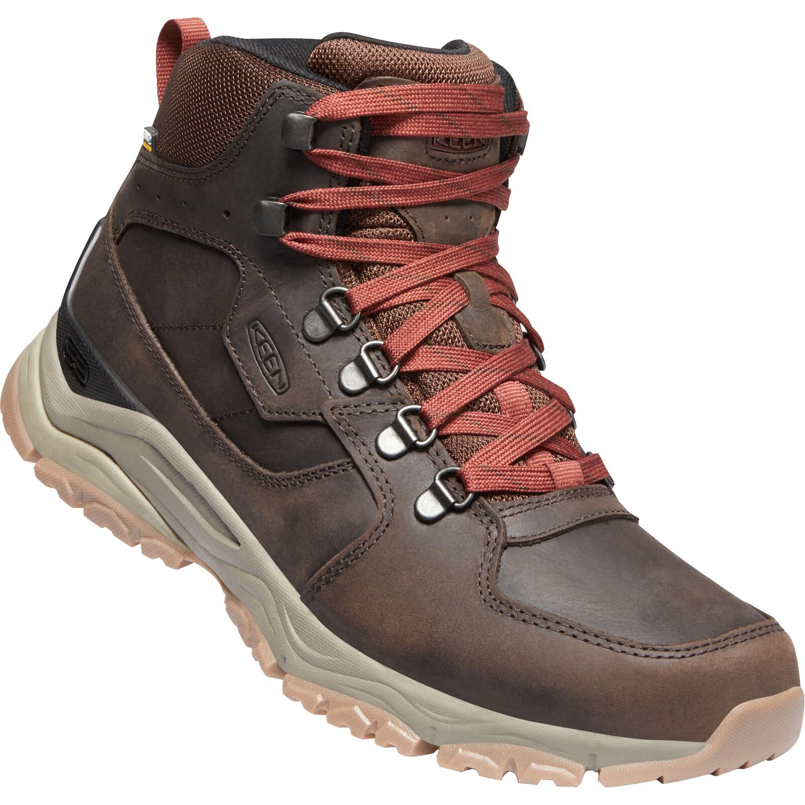 KEEN Innate Leather Mid Waterproof Men's Hiking Ankle Boot - Chestnut / Fired Brick