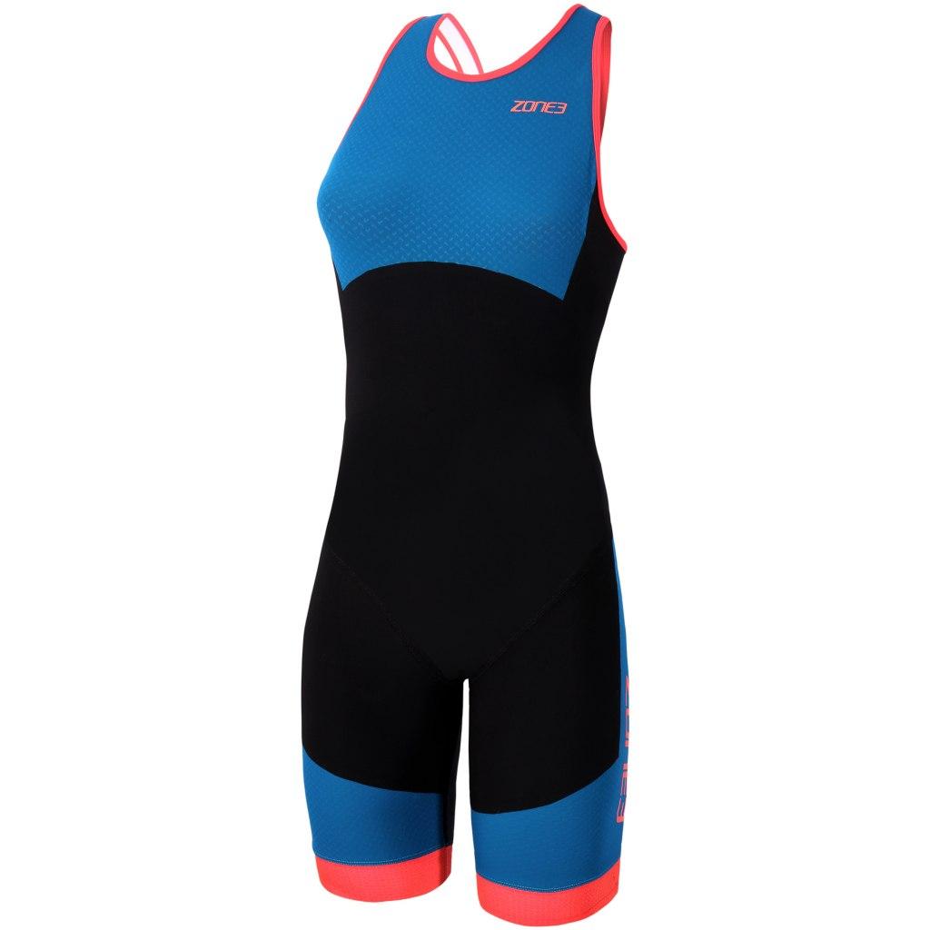 Zone3 Women's Aeroforce Swimback Style ITU Design Trisuit - black/blue/coral