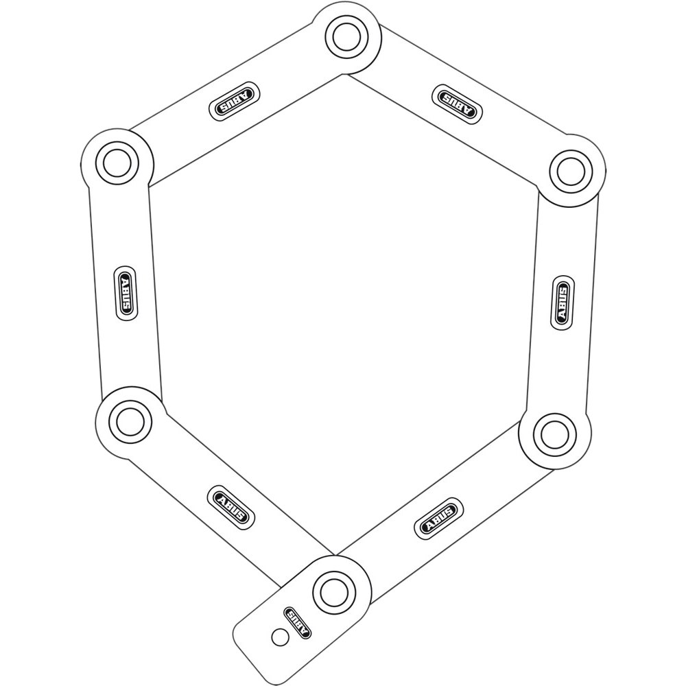Imagen de ABUS Bordo Combo 6100/90 Folding Lock + SH 6000/6100 Bracket - White