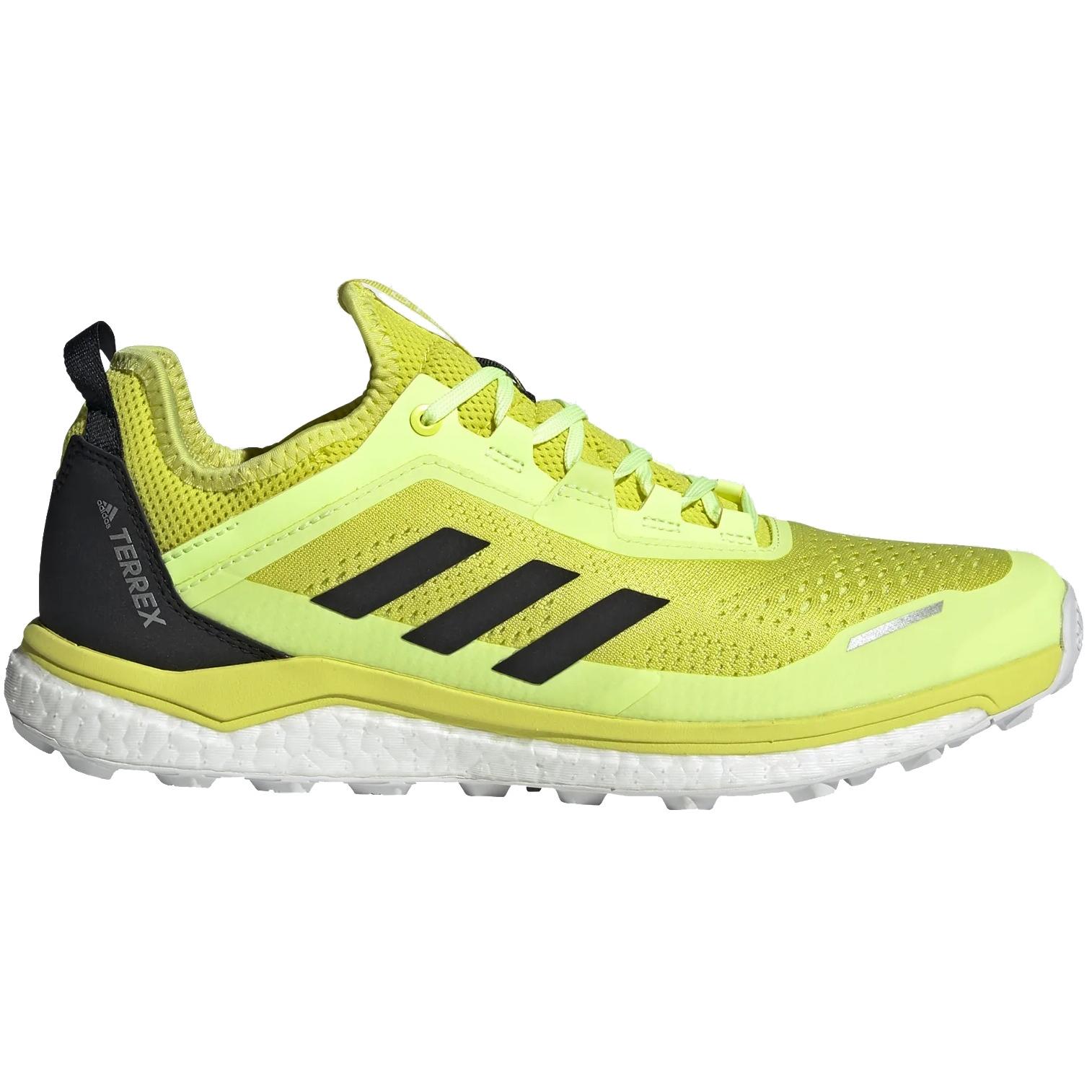 adidas Men's TERREX Agravic Flow Trail Running Shoes - acid yellow/core black/hi-res yellow FW5120