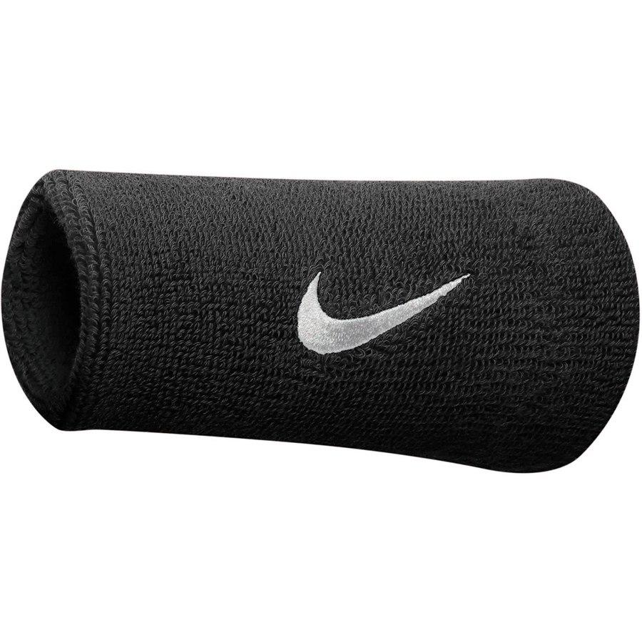 Nike Swoosh Wristband Doublewide - black/white 010