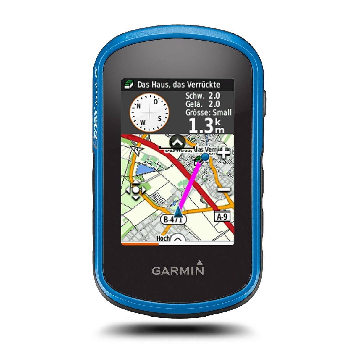 Garmin GPS eTrex Touch 25 Hand-Navigationsgerät + TopoActive Europa Karte - 010-01325-01