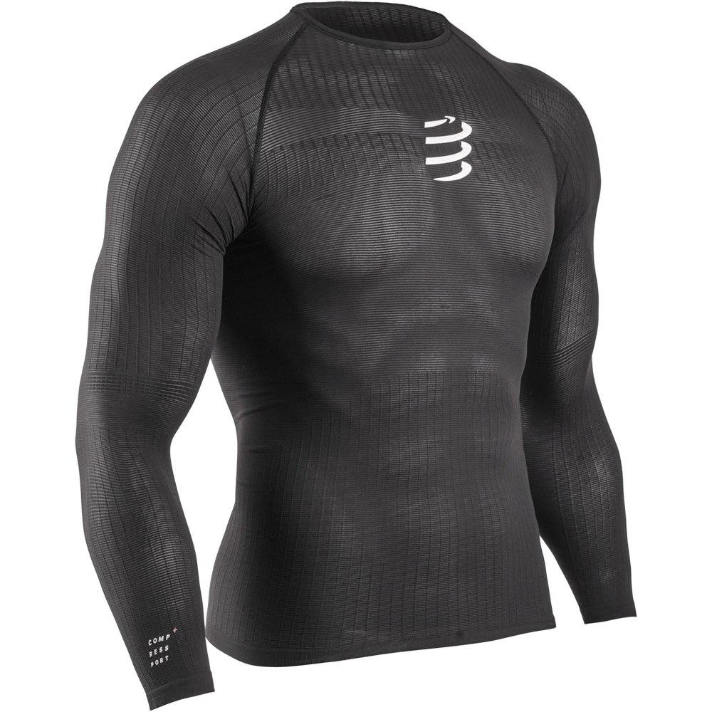 Produktbild von Compressport 3D Thermo 50g Langarm T-Shirt Unisex - Black