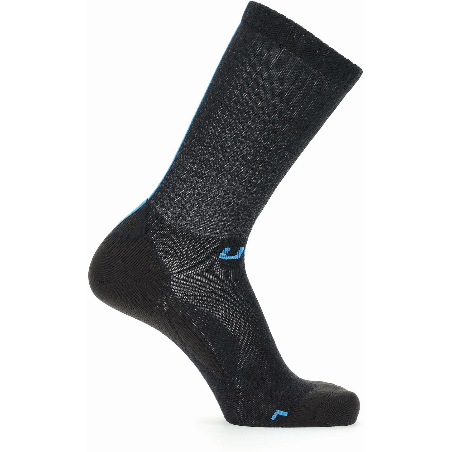 Image of UYN Cycling Aero Winter Socks - Black/Turquoise