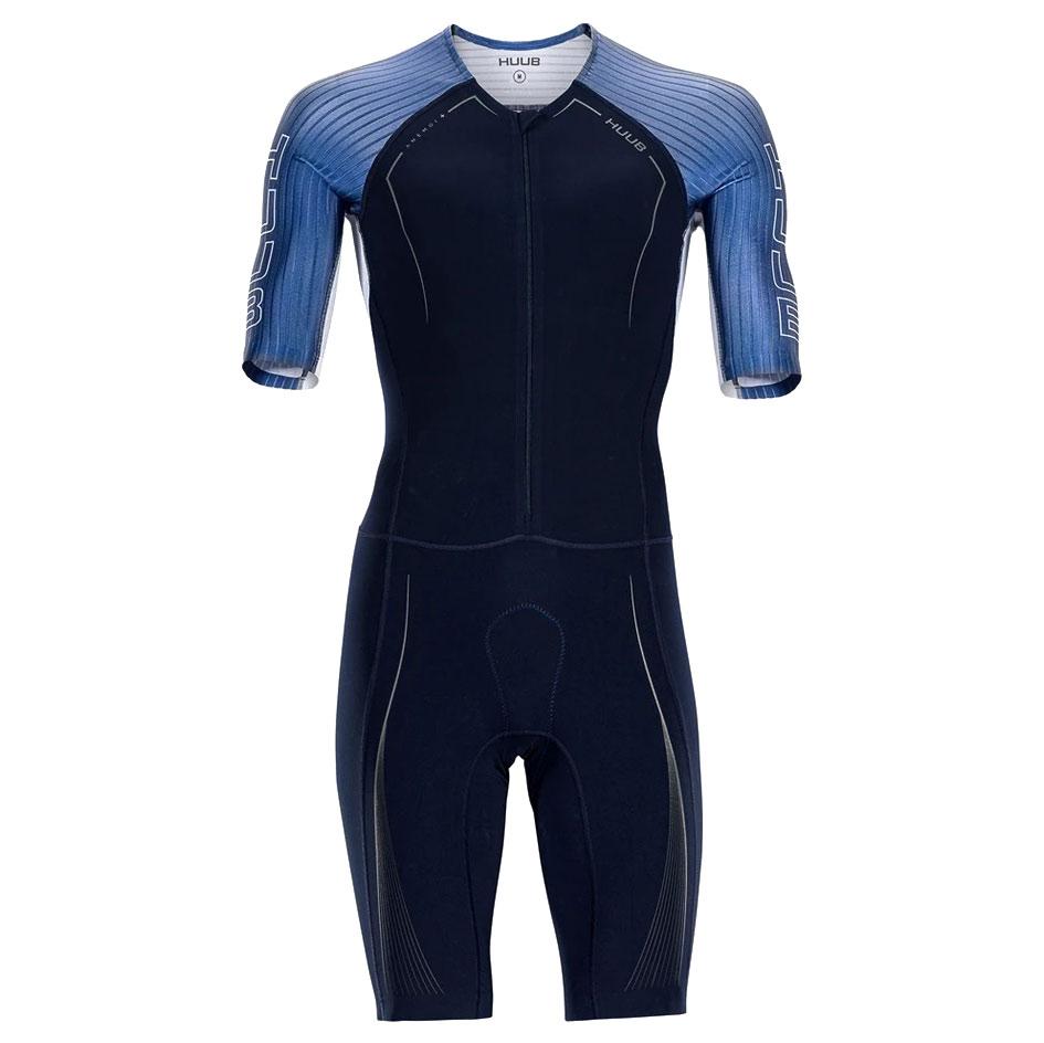 Produktbild von HUUB Design Anemoi+ Aero Flatlock Tri Suit - navy/petrol