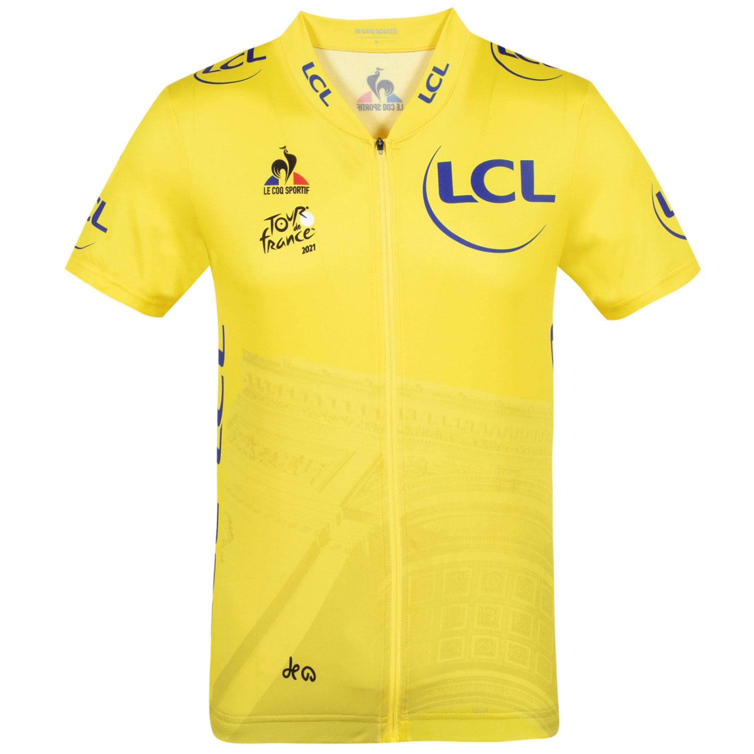 Le Coq Sportif Tour de France™ 2021 Collection Replica Kinder Kurzarm-Trikot - Gelb