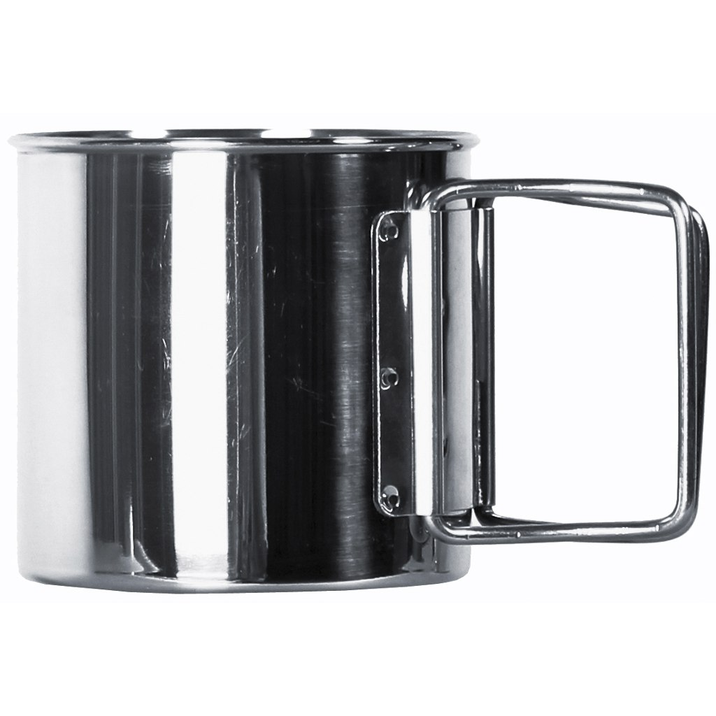 Image of basic NATURE | Relags Stainless Steel Mug Foldable Handle 0,35L