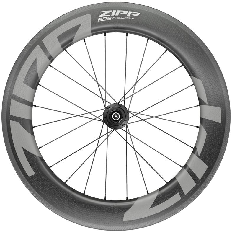 ZIPP 808 Firecrest Carbon Hinterrad - Drahtreifen - QR - Shimano/SRAM 10/11f - schwarz