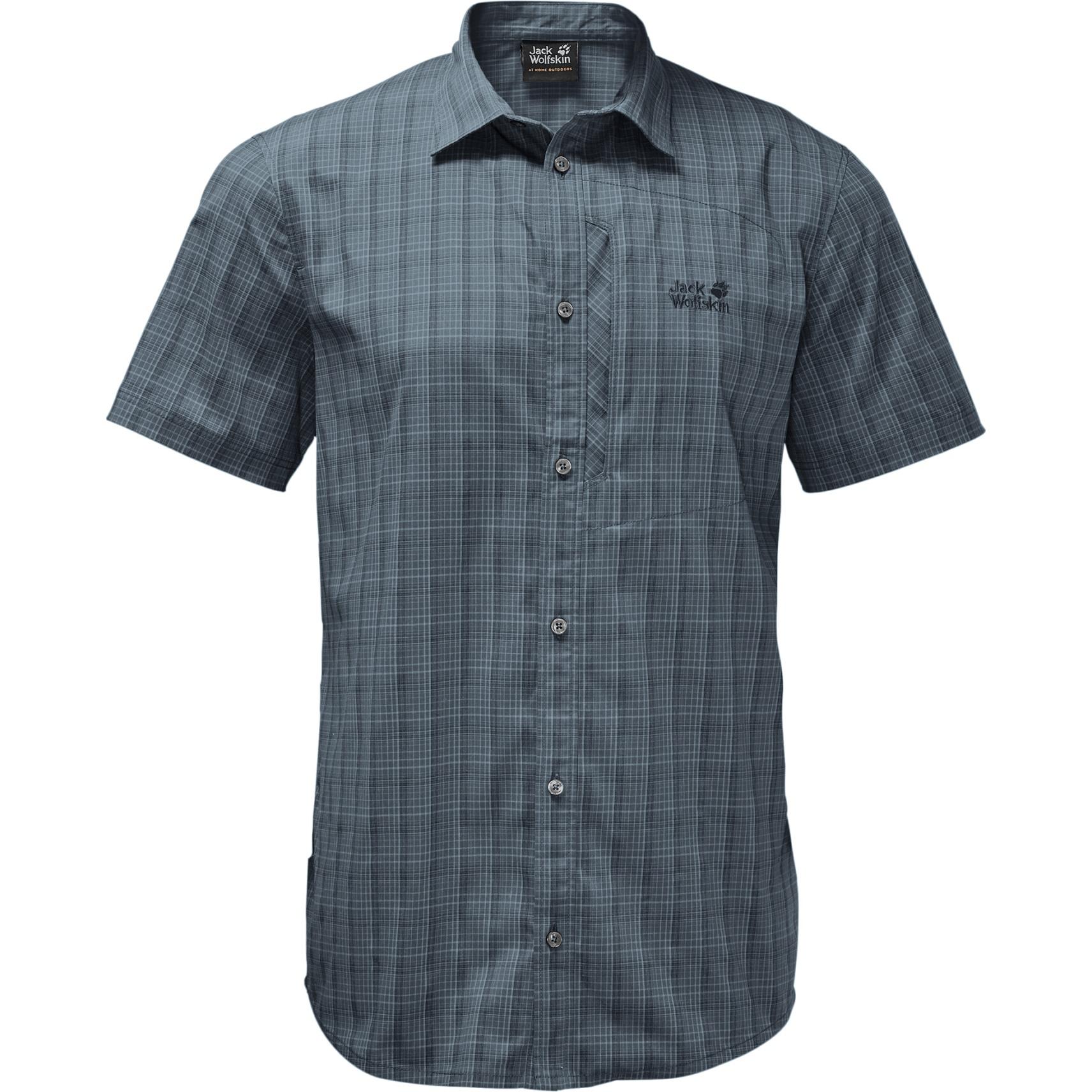 Jack Wolfskin Rays Stretch Vent Shirt Men - storm grey checks
