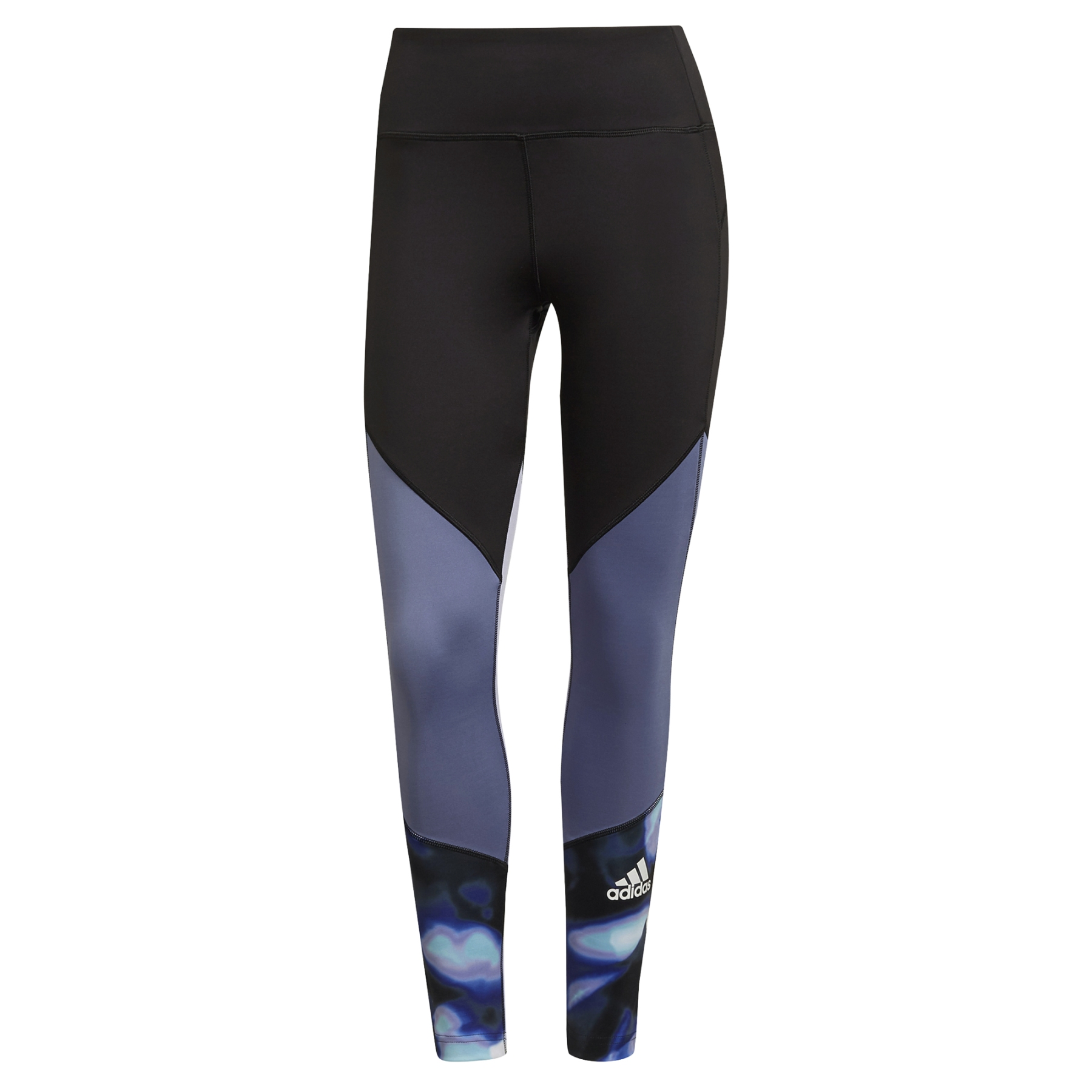 adidas Women's FeelBrilliant AEROREADY You for You Printed Sport 7/8-Tight - black/orbit violet GS3918