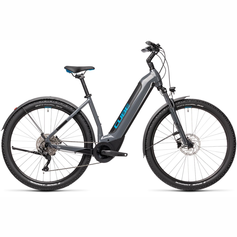 CUBE NURIDE HYBRID PRO 625 Allroad - Easy Entry E-Bike - 2021 - grey/blue