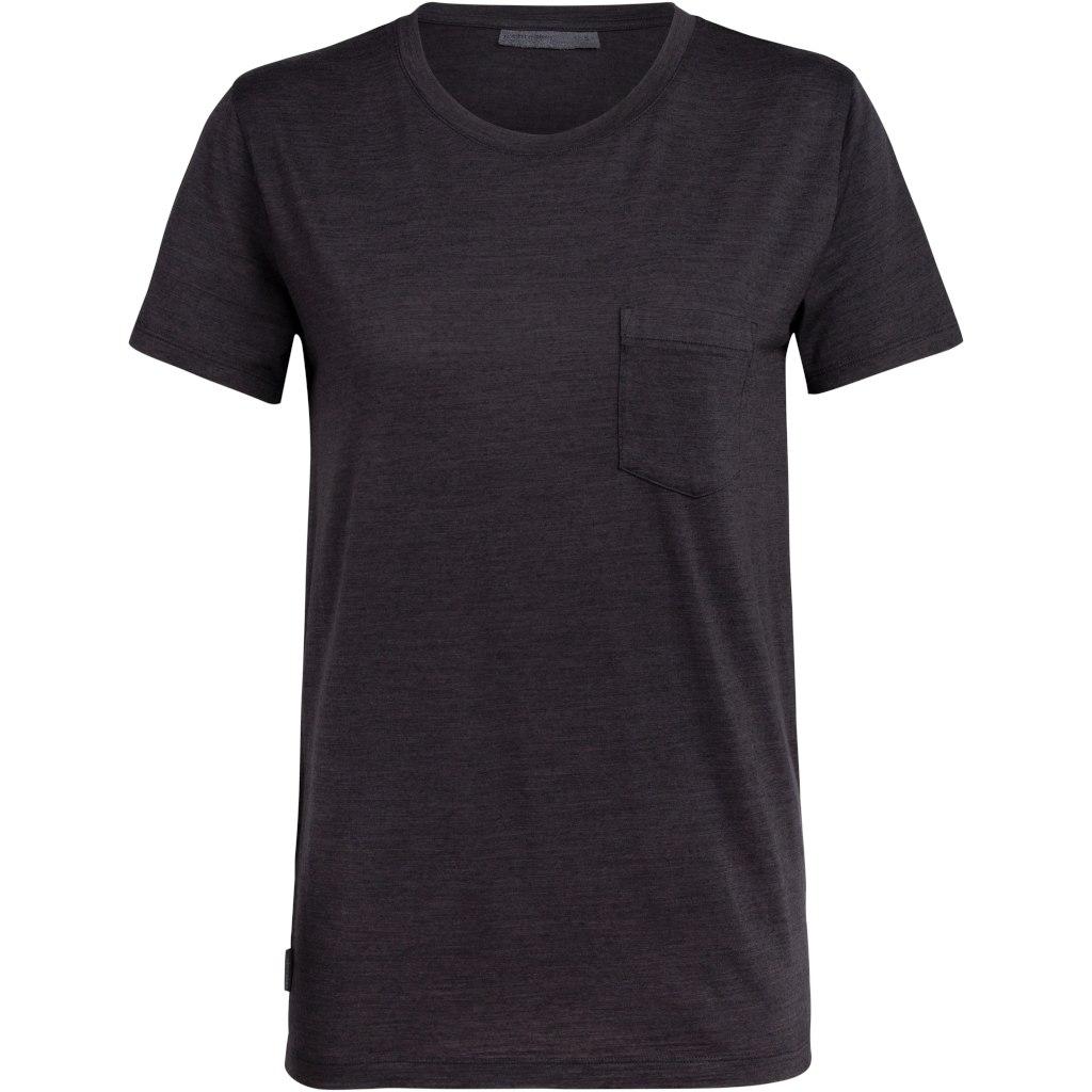 Icebreaker Nature Dye Drayden Pocket Crewe Damen T-Shirt - Tannin