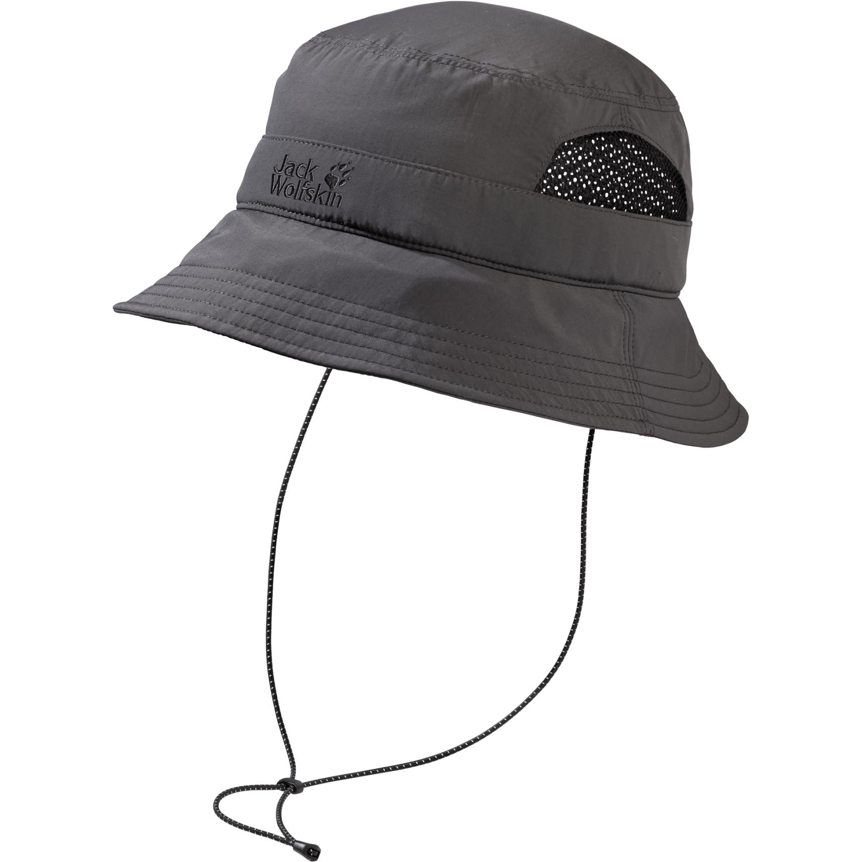 Jack Wolfskin Supplex Vent Bucket Hat Fischerhut - dark steel