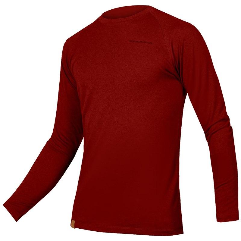 Endura BaaBaa Blend L/S Baselayer - rust red