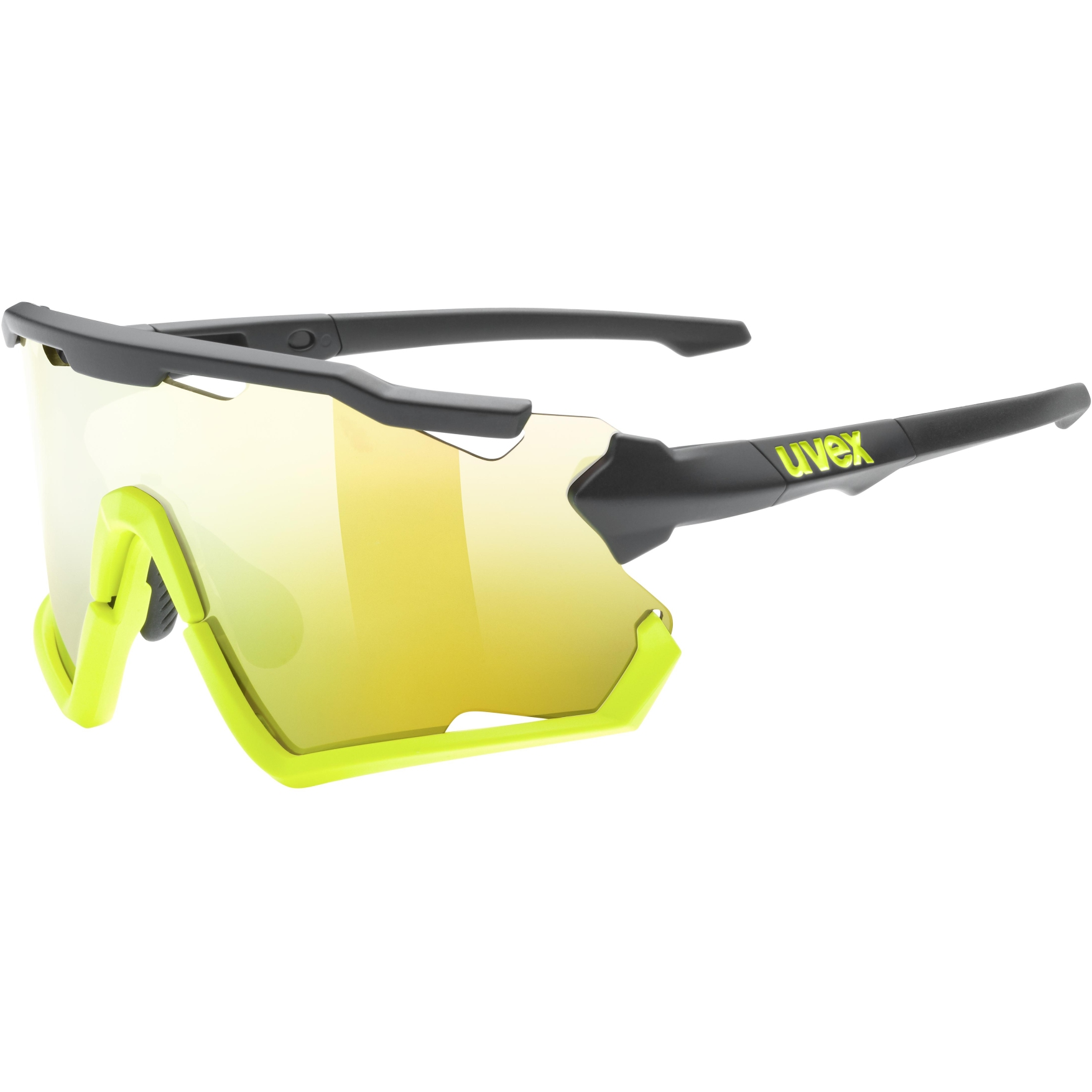 Uvex sportstyle 228 Glasses - black yellow matt/mirror yellow