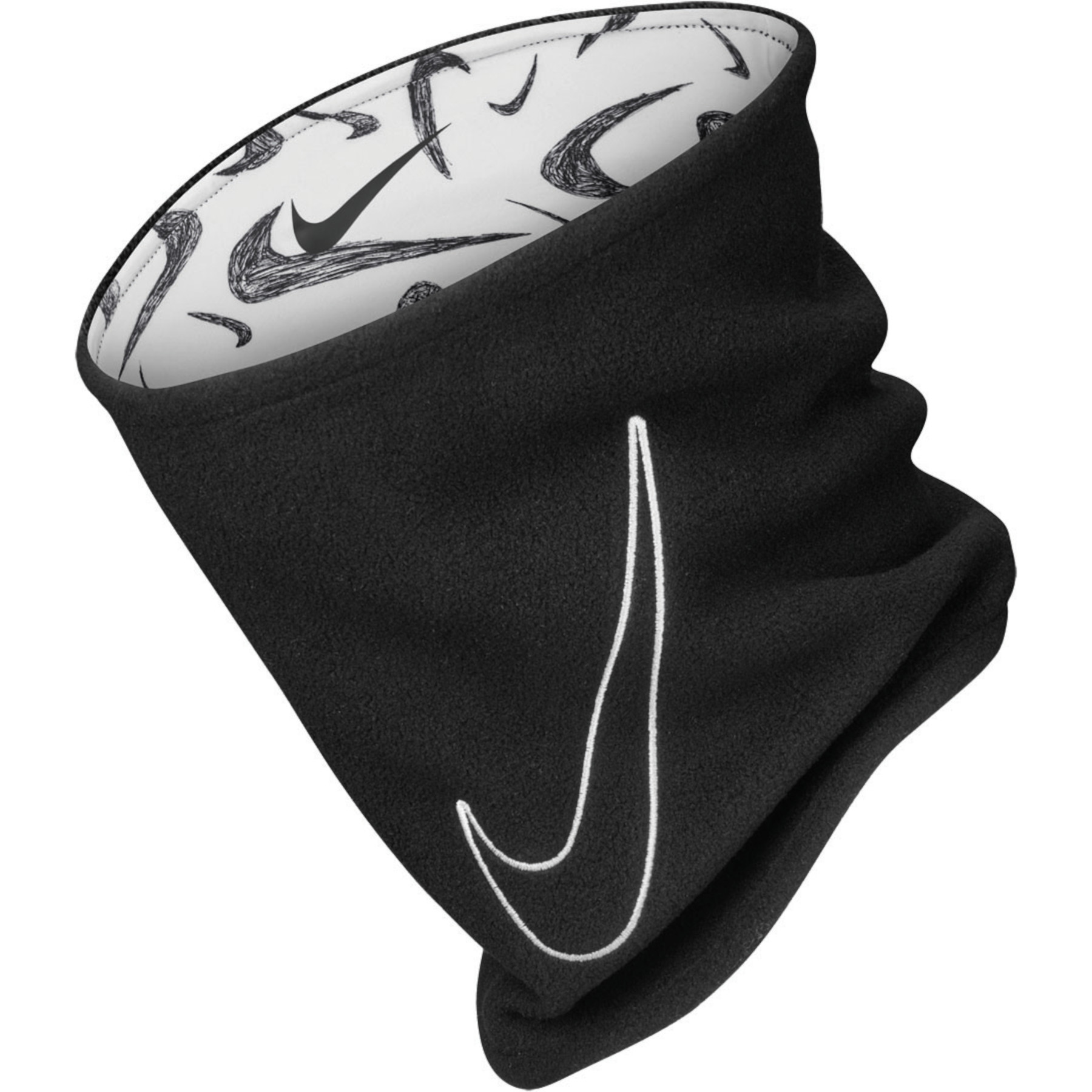 Nike Young Adult Reversible Neck Warmer 2.0 - black/white/white 984