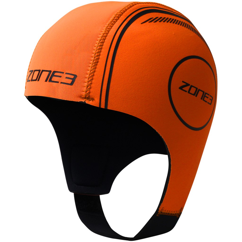 Zone3 Neoprene Schwimmkappe - hi-vis orange